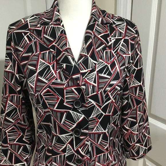 Dress Barn Jackets & Blazers - Dress Barn Black, Red & White Blazer Suit Jacket